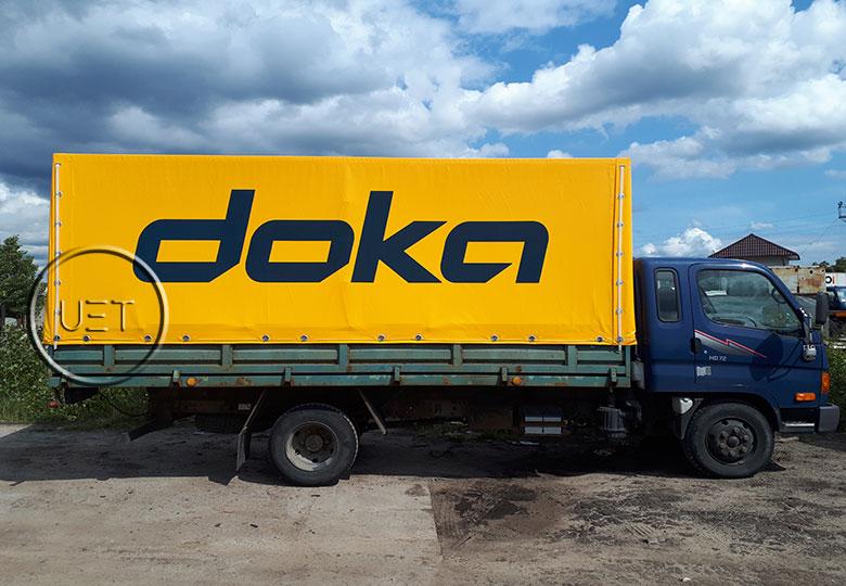 Тент на грузовое авто
